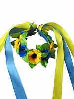 Обруч Подсолнухи (Украинские венки, обручи, заколки)