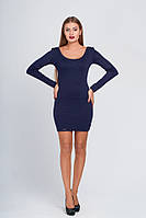 Короткое синее платье 019