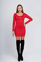 Короткое красное платье 019