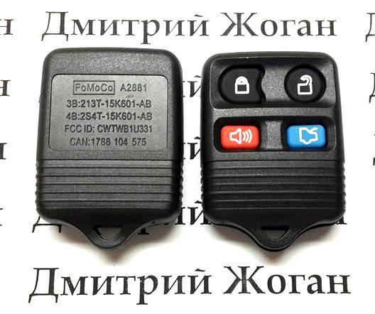 Корпус пульта центрального замка Ford (Форд) 4 кнопки, фото 2