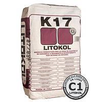 Клей на цементной основе для керамической облицовки Litokol K17 25 кг