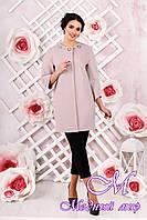 Стильное женское демисезонное розовое пальто батал (р. 44-54) арт. 1000 Тон 2