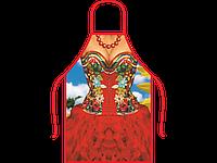 Прикольный женский фартук Красотка в платье