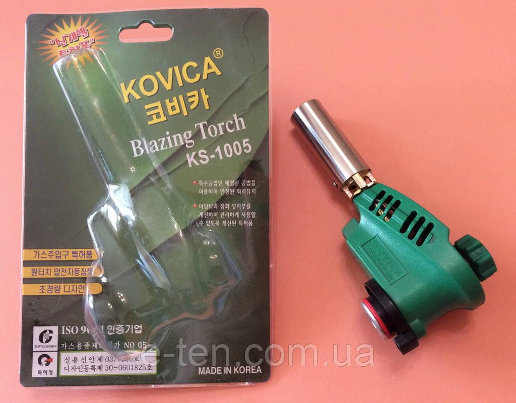 Горелка-резак с пьезоподжигом KOVICA Blazing Torch KS-1005 под газовый баллончик 220г    Корея