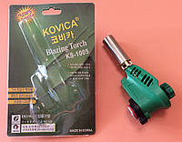 Горелка-резак с пьезоподжигом KOVICA Blazing Torch KS-1005 под газовый баллончик 220г    Корея, фото 1
