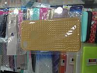 Чехол силикон блестки для Iphone 4/4s gold
