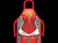 Прикольный женский фартук Красотка в корсете
