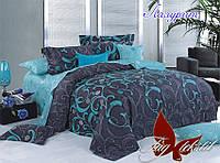 ТМ TAG Комплект постельного белья с компаньоном Лазурит