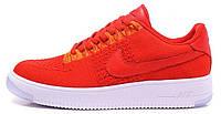 Мужские кроссовки Nike Air Force 1 Ultra Flyknit, найк аир форс красные