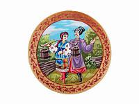 Тарелка средняя с сюжетной росписью Казаки (Другие виды росписи)