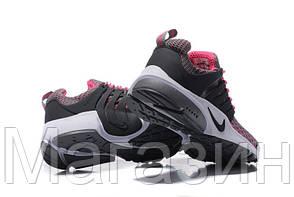 Женские спортивные кроссовки Nike Air Presto Flyknit Grey Pink, Найк Аир Престо, фото 2