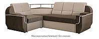 Угловой диван Меркурий (Мика коричневый / бежевый / без столика)
