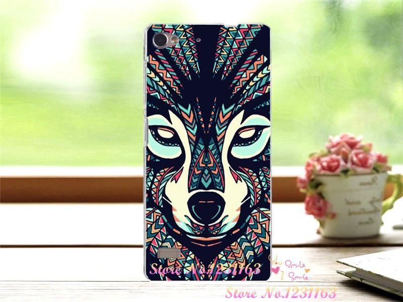 Чехол бампер силиконовый для Lenovo Vibe X2 с картинкой totem wolf