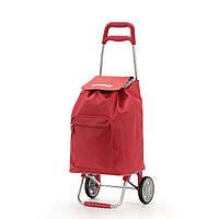Сумка хозяйственная на колесиках Argo, красная, 37x33x95,6 см