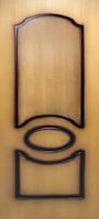 Двери межкомнатные Виктория глухие шпон натуральный