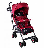 Детская Прогулочная коляска CARRELLO Costa Magic Crimson - корзина, съемный бампер, чехол на ножки