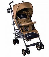 Детская Прогулочная коляска CARRELLO Costa Amber Brown - корзина, съемный бампер, чехол на ножки