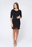 Черное платье с кружевом 117