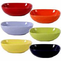 Набор салатников 6 цветов Микс Квадрат /6 цветов в наборе/ арт. 3111-2