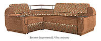 Угловой диван Меркурий (Бостон коричневый  / без столика)