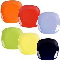 Набор тарелок 20см Микс Квадрат /6 цветов в наборе/