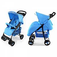 Детская Прогулочная коляска CARRELLO Fusion BLUE - корзина, съемный бампер, чехол на ножки