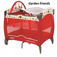 Детский манеж Graco Contour Electra garden friends