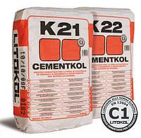 Клей на цементной основе для керамической облицовки CEMENTKOL K21 (сер.) 25 кг