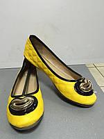Балетки женские весна-лето желтые и черные Macgio