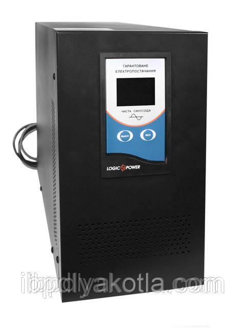 ИБП Logicpower LPM-PSW-5000 (3500Вт), для котла, чистая синусоида, внешняя АКБ