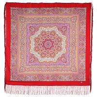 Северянка 1625-4, павлопосадский платок шерстяной (двуниточная шерсть) с шелковой бахромой