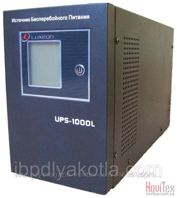 ИБП Luxeon UPS-1000L, для котла, чистая синусоида, внешняя АКБ