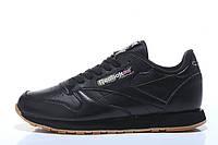 Кроссовки женские Reebok Classic Leather  Black черные