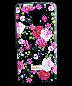 Чехол накладка для Xiaomi Redmi 4 / Redmi 4 Prime силиконовый Diamond Cath Kidston, Ночные розы