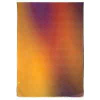 Осенний блюз 10066-6, павлопосадский шарф-палантин шерстяной (разреженная шерсть) с осыпкой    СКИДКА!!!