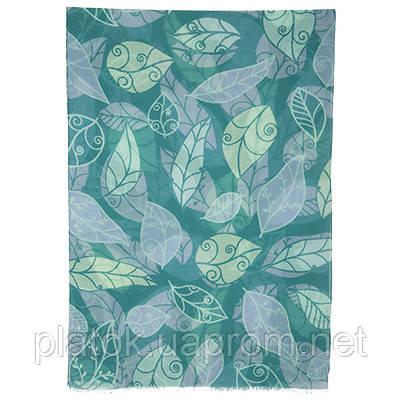 Осенний сон 10107-12, павлопосадский шарф-палантин шерстяной (разреженная шерсть) с осыпкой