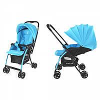 Детская Прогулочная коляска CARRELLO Cosmo LIGHT BLUE - перекидная ручка, корзина,чехол на ножки