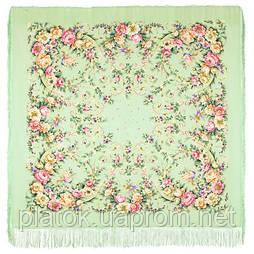 Праздник души 1681-10, павлопосадский платок (шаль, крепдешин) шелковый с шелковой бахромой
