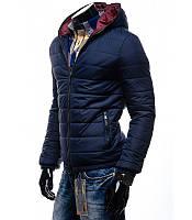 Синяя куртка мужская демисезонная с, л