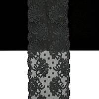 Кружево Франция арт. 103 графит, 14 см.