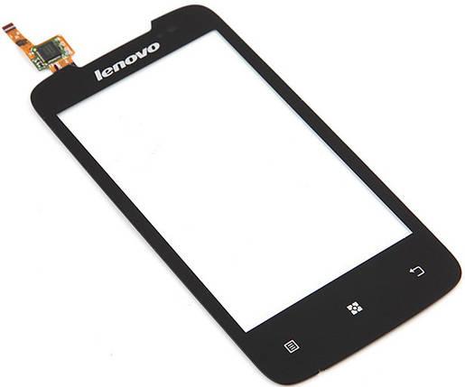 Сенсор LENOVO A390 black (оригинал), тач скрин для телефона смартфона, фото 2
