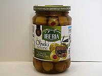 Оливки зелёные фаршированные паприкой Iberia 340 г., фото 1
