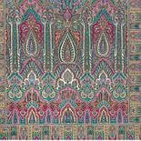 Царский 1159-54, павлопосадский шарф-палантин шерстяной с шелковой бахромой, фото 2