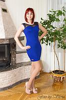 Коктейльное платье без рукава. 372