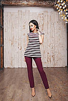 Стильный женский костюм в полоску туника+лосины,цвета разные