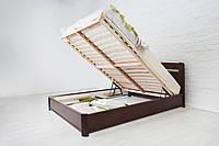 Кровать Нова с подъемной рамой 180х190, Орех Светлый