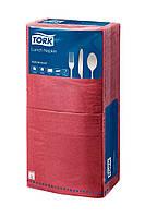 Салфетки 33x33 бумажные бордо Tork 2сл