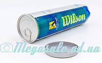 М'яч для великого тенісу Wilson Australian Open T1130: 4 м'ячі у вакуумній упаковці (репліка)