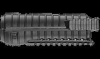 Тактическое цевье для М4, 3 планки Пикатинни, черное
