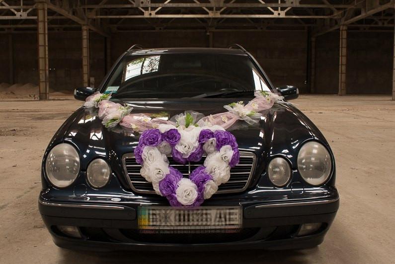 """Свадебные украшения на машину """"Сердце нежность"""""""
